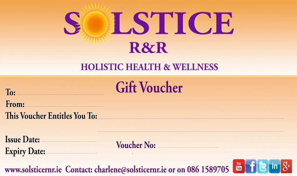 Gift Vouchers SOLSTICE R&R